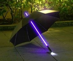Star Wars Light Saber Umbrella. - $22.98 -Use the force like a Jedi, and Protect your outfit from the elements with this Star wars Light saber Umbrella. This fully functional umbrella features a light saber handle with a built in flashlight, and carbon fiber reinforced webbing for increased strength and durability.