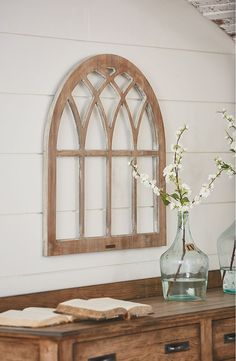 Free shipping and returns on Magnolia Home Window Frame Wall Decor at Nordstrom.com. Ad a chic, eclectic touch to your living space with this cathedral-style window frame crafted from pine wood. With a distressed finish and burnished logo plate, this Gothic wall hanging from Joanna Gaines' Magnolia Home Collection takes its inspiration from architectural antiques.