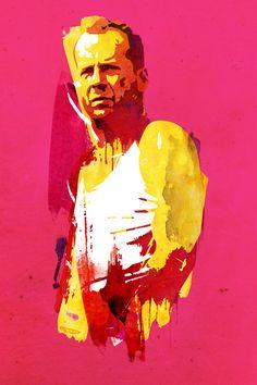 Mi favorito..Live fast die hard Bruce Willis by by Robert Farkas