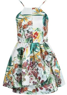 Vestido de verano, tropical dress, summer, fashion, outfit, girl www.PiensaenChic.com