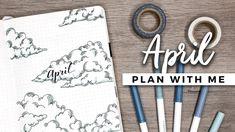 PLAN WITH ME   April 2018 Bullet Journal Setup - YouTube
