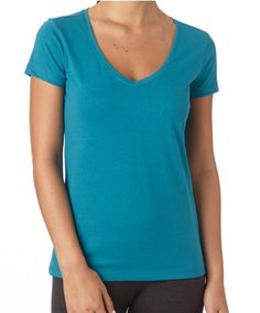 PACT Organic Cotton Women's Peacock Short Sleeve V-Neck Tee