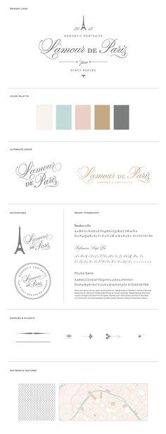 L'amour de Paris • Romantic Portraits by Stacy Reeves •  Branding & Identity Design Case Study by BRAIZEN