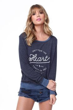 Only From the Heart Savasana Pullover Deep Cyan Blue