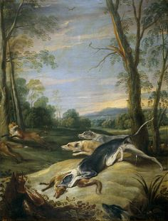 Frans Snyders, Foxes hunted buy hounds, XVII century