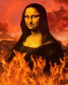 Mona Lisa Vampire by on DeviantArt Mona Friends, Mona Lisa Parody, Mona Lisa Smile, Monalisa, Old Movie Posters, Renaissance Artists, Collage, Louvre, Classical Art