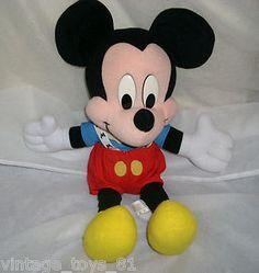 disney stuffed toys | ... Arco Toys Disney Mickey Mouse Stuffed Animal Plush Toy Cute | eBay