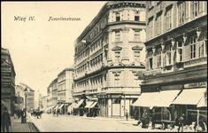 Ansichtskarten Online: Wien IV., Favoritenstrasse Vienna, Austria, Photographs, History, Architecture, City, Vintage, Remember This, Arquitetura