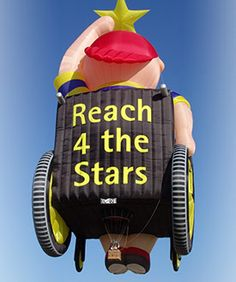 Reach for the Stars Special Shape Hot Air Balloon, representing children special needs, #soneat