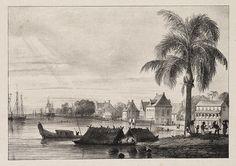 Gezicht op de stad Paramaribo 1831