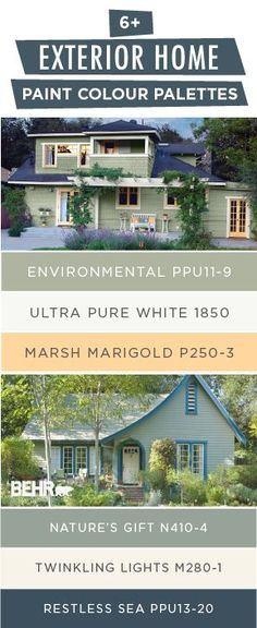 Looking to upgrade your curb appeal? BEHR can help. This collection of exterior home paint palettes uses BEHR Paint in a variety of modern shades to lend a unique style to your house. Click below to find inspiration for your next DIY home makeover project.