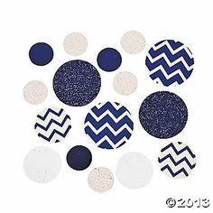 Blue Chevron Jumbo Confetti also red 2oz $4.25