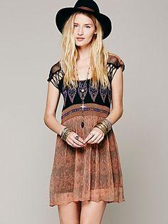 Free People Flaming Hearts Mini Dress - I NEEEEEEEEEEEED THIS DRESS