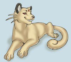 Pokemon fan art. Persian by WerewolfPsycho on deviantART.