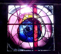 Bealings School - Stained Glass Window Interesting design