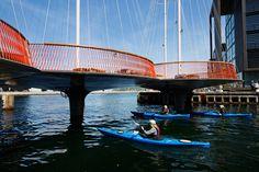 olafur eliasson cirkelbroen bridge copenhagen christianshavn canal designboom