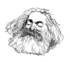 Karl Marx by David Levine Karl Marx, Goodbye To All That, Brooklyn, Black Wood, Impressionism, Painting & Drawing, Lion Sculpture, David, Framed Prints