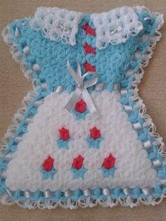 Elbise Lif Yapılışı Crochet Baby, Knit Crochet, Beautiful Crochet, Pot Holders, Christmas Stockings, Projects To Try, Knitting, Holiday Decor, Pattern