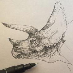 Resultado de imagen para triceratops tattoo