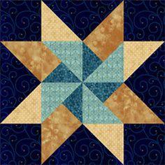 Twirling Star. Pam Bono block design. Pattern no longer available.