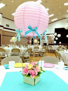 7 centros de mesa para baby shower                                                                                                                                                                                 Más