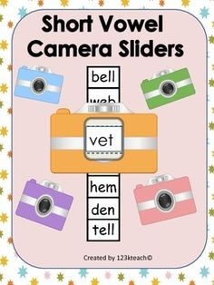 Students will love sliding the film through these cameras as they read short vowel words. This product includes color and black and white cameras. There are 96 words to practice reading. Recording sheets are also included. Enjoy!