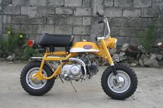 Honda Mini Trail 50. Mine was Candy Red & Silver modified for 70cc with a set back seat for continuous wheelies!