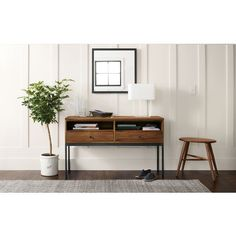 Room & Board - Linear Console Table in Walnut - Modern Entryway Furniture Entry Furniture, Living Room Furniture, Modern Furniture, Living Room Decor, Furniture Stores, Rustic Furniture, Antique Furniture, Outdoor Furniture, Furniture Ideas