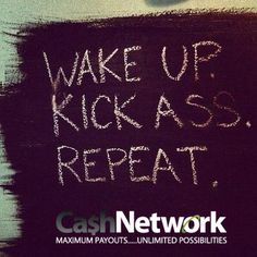wake up kick ass repeat more inspiration mondays mornings kicks ass Life Quotes Love, Great Quotes, Quotes To Live By, Awesome Quotes, Start Quotes, Interesting Quotes, Interesting Stuff, The Words, Motivational Quotes