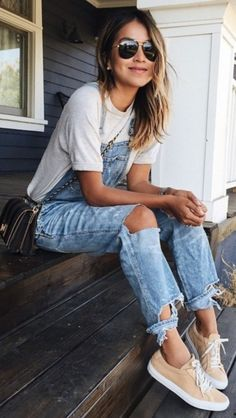 A dependable denim jumpsuit because casual and stylish can definitely be one in the same