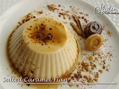 Low Carb Salted Caramel Flan (no egg) Dukan diet, all phases