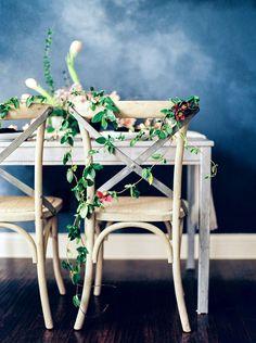 Rustic Wedding Floral Decor | Callie Manion Photography | http://heyweddinglady.com/bright-spring-flowers-fine-art-bridal-style/