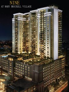 NINE At Mary Brickell Village will contain a pool area that is simply spectacular.