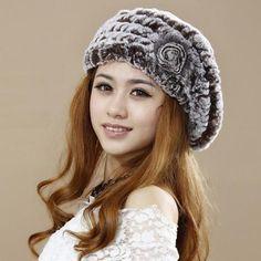 Real Rabbit Fur Hat
