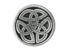Metal Shank Buttons    Style: Round Celtic Tri Knot Color: Pewter Size: 1 (25 mm)  Shank Hole: 3 mm  Made in USA    Set of 2 Buttons