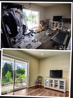 A family or a living room should never be turned into a gym if your intention is to sell your house. Gym equipment takes a lot of space and distracts the viewer from the real purpose of a room.