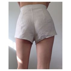 Linen wrap shorts. Waist tie shorts Flax Plant, Short Waist, High Waist, Tie Shorts, Hip Ups, Wrap Style, Short Dresses, How To Wear, High Cut