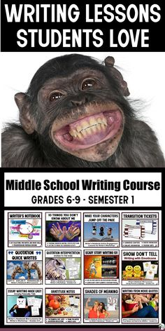 Middle School Writing Teachers, Are you short on time, but looking to excite middle school writers? The Middle School Writing Course includes 16 weeks of low-prep, high-interest lessons designed to raise writing proficiencies.