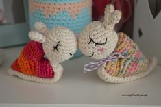 Hello everybody. I've written out a free English crochet pattern for my little heartsnail. It is not tested completely, so if you're feeling crafty and adventurous, do give it a try! These snails m… Crochet Snail, Crochet Baby Toys, Crochet Unicorn, Easter Crochet, Free Crochet, Crochet Animals, Crochet Jewelry Patterns, Doily Patterns, Crochet Scarf Easy