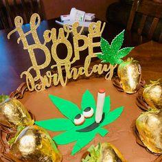 Cannabis Leaf Personalised Icing Cake Topper party decoration birthday Marijuana