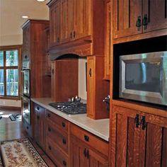 Hardwood Kitchen Cabinets, Custom Built. Evansville, Indiana