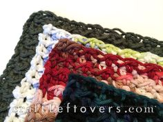 Craft Leftovers: Perfect size for a crocheted dishcloth. Crochet Chart, Crochet Motif, Knit Crochet, Crochet Patterns, Crotchet, Crochet Dishcloths, Crochet Home Decor, Crochet Kitchen, Pattern Library