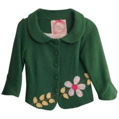 Pre-owned Nick & Mo Anthropologie Boat Spring Green Blazer (70 AUD) ❤ liked on Polyvore featuring outerwear, jackets, blazers, green, green blazer jacket, green spring jacket, green jacket, green blazer and blazer jacket