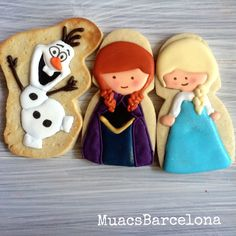 Frozen Cupcakes, Frozen Cookies, Frozen Cake, Galletas Cookies, Cake Cookies, Sugar Cookies, Frozen Elsa And Anna, Elsa Anna, Cartoon Cookie
