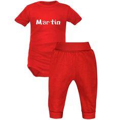 a510518e67a35 Ensemble personnalisé avec PRÉNOM   body bébé pantalon (7 couleurs au  choix). SiMEDIO