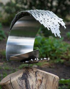 Artwork Femia is made of used industrial materials   Lebesque Design