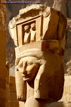 Hathor column at Hatshepsut Temple, Egypt.