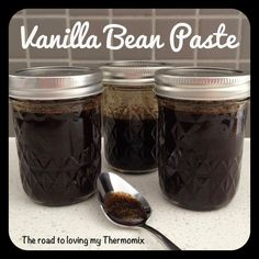 Vanilla Bean Paste. Gives link to recipe on Tick of Yum
