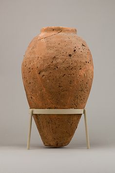 Rough ware jar Water Carafe, Clay Vase, Sculpting, Objects, Pottery, Shapes, Simple, Pots, Planters