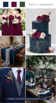 navy blue and burgundy wedding color ideas navy blue and burgundy wedding color ideas - Wedding Colors Before Wedding, Our Wedding, Dream Wedding, Rustic Wedding, Wedding Stuff, Fall Wedding Colors, Wedding Color Schemes, Wedding Flowers, Cute Wedding Ideas